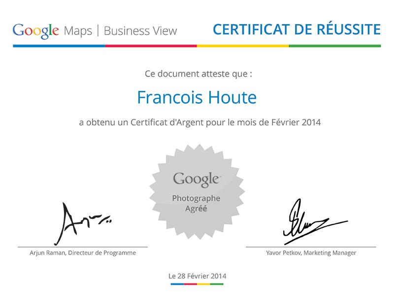 Certificat Argent Février 2014