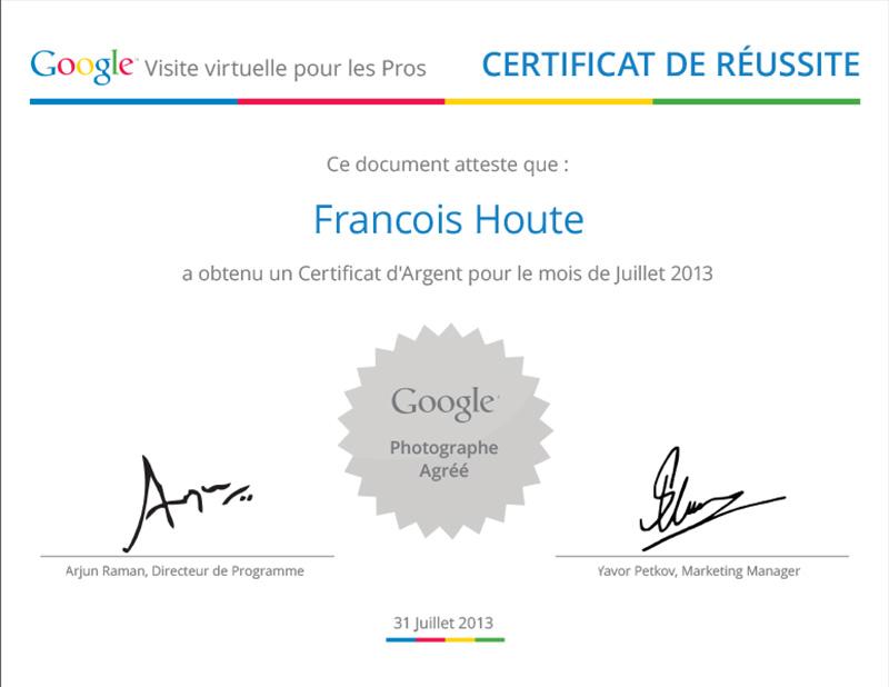 Certificat Argent Juillet 2013